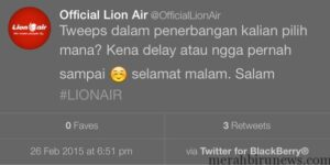 Tweet Heboh Akun @OfficialLionAir