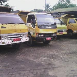 Armada Truk sampah milik DKPP Tarakan yang sudah uzur