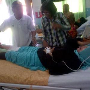 SA(52) saat dirawat di RSUD Tarakan