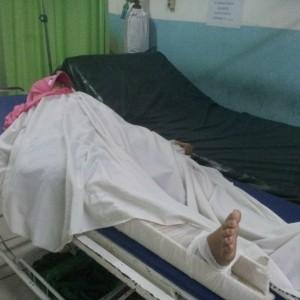 Korban Alfah saat dirawat di RSUD Tarakan (ctr)