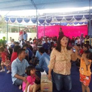 Pihak lapas Tarakan menyediakan tenda untuk keluarga warga binaan saat berlebaran di Lapas Tarakan (ctr)