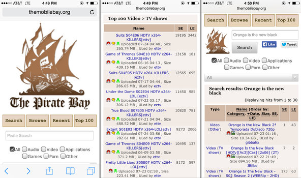 Tampilan The Mobile Bay Pirate Bay