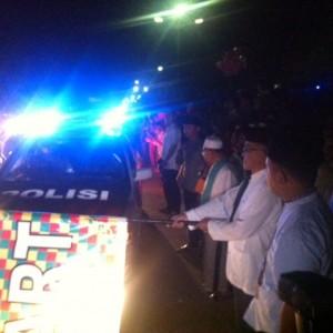 Walikota Tarakan Sofian Raga saat melepas parade beduq sahur didampingi jajaran FKPD Tarakan (hfa)