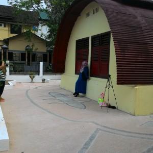 Halaman museum rumah bundar yang sering dijadikan tempat berfoto (HFA)