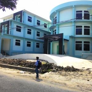 Bangunan gedung baru Puskesmas Karang Rejo, rencananya Puskesmas tersebut akan beroperasi tahun ini (run)