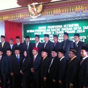 Anggota DPRD Tarakan yang baru usai dilantik dan diambil sumpah jabatannya (HFA)