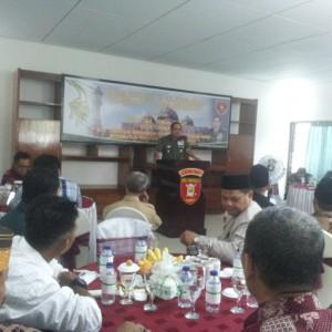 Pangdam VI Mulawarman Mayjen Dicky Wainal Usman saat memberikan sambutan di depan FKPD dan Tokoh Masyarakat