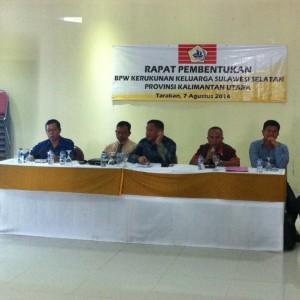 Muhammad Yunus Abbas dan tim formatur pembentukan pengurus KKSS Kaltara (HFA)