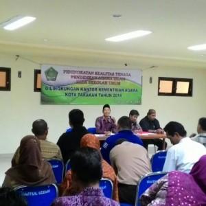 Pertemuan guru agama islam di masjid raya Baitul Izzah Tarakan (run)