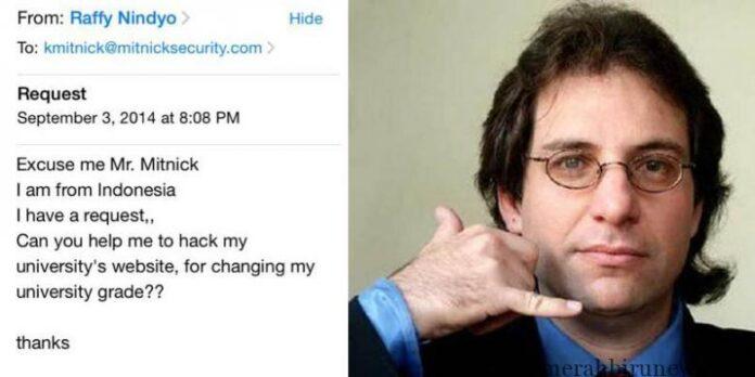 Email Mahasiswa Indonesia Diledek Hacker Kevin Mitnick
