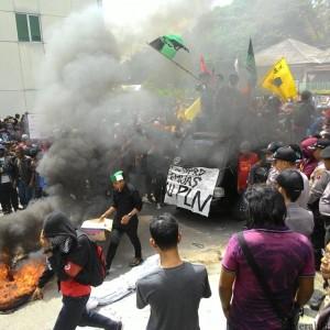 Aksi Unjuk Rasa Penolakan PTLB 59 % (RUN)