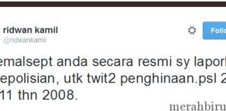 Ridwan Kamil Laporkan Akun @kemalsept Terkait Penghinaan Kota Bandung