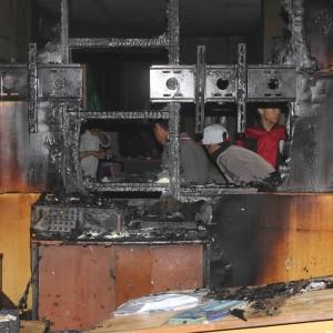 Ruangan CCTV SMA Muhammadiyah Yang Terbakar (NY)