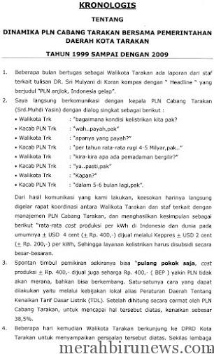 Kronologis swastanisasi PT PLN Tarakan