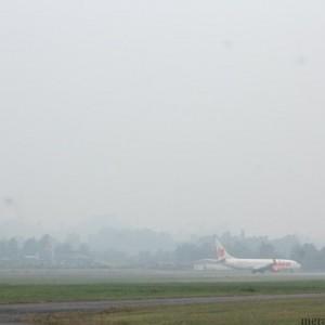 Kabut asap yang menyelimuti sebagian wilayah yang ada di Tarakan (hfa)