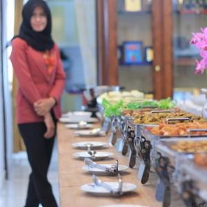 Beberapa menu yang disajikan saat open house idul adha Walikota Tarakan (hfa)