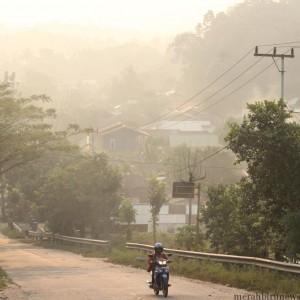 Kondisi kabut asap yang semakin parah di Kota Tarakan (hfa)
