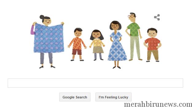 Tampilan Google Pada Hari Batik (google)
