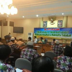 Rombongan FKUB Malinau saat berkunjung ke Tarakan dan disambut oleh Walikota Tarakan Sofian Raga (run)