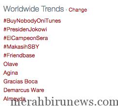Trending Topic #Presidenjokowi Di Twitter (twitter.com)