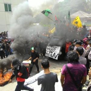 Aksi Penolakan PTLB Oleh Beberapa Organisasi Serta Masyarakat Beberapa Waktu Lalu di DPRD Tarakan (run)