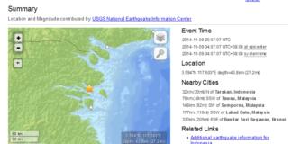 Info Gempa Bumi Tarakan 9 November 2014 Earthquake USGS