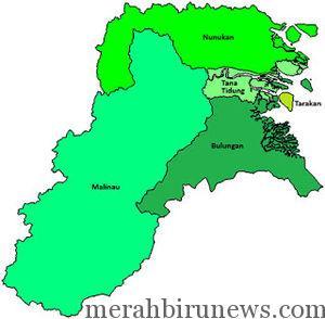 Peta Kalimantan Utara