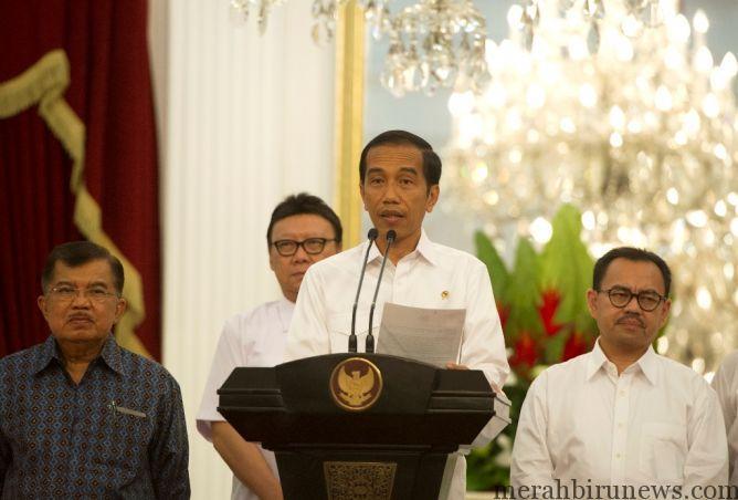 Presiden Joko Widodo mengumumkan kenaikan harga BBM/Ant/ANDIKA WAHYU