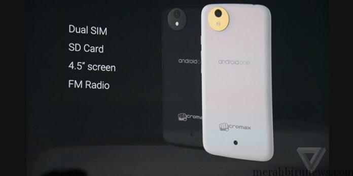 Smartphone Android One dari Micromax (kompas Tekno)