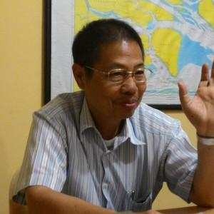 Direktur Perusda Tarakan Tigor Nainggolan (run)