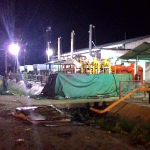 Mesin Sewatama PLN di Binalatung yang sempat mengalami Black Out Minggu 21 Desember 2014  (run)