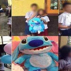 foto anak SMP dan SD yang rangkul-rangkulan gegerkan dunia maya (Facebook)