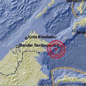 wilayah titik gempa yang terasa sampai di Tarakan (hfa)