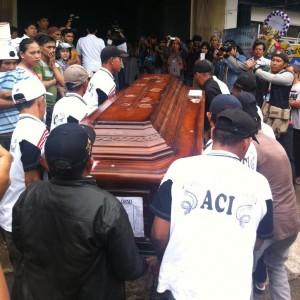 peti jenazah Vera Chandra saat tiba di rumah duka (hfa)