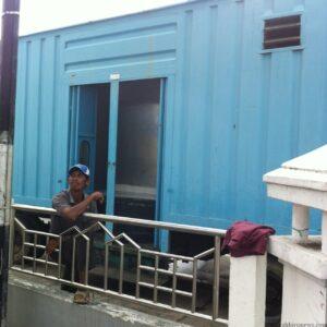 WC portable yang disediakan BPBD untuk pengungsi kebakaran Selumit Pantai (hfa)