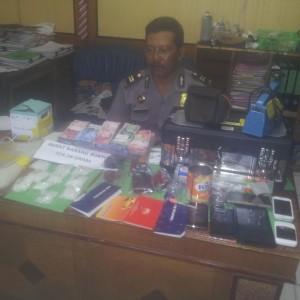 Barang bukti Narkoba Tersangka JU dan SR Yang Merupakan Dedengkot Narkotika Tarakan (ctr)