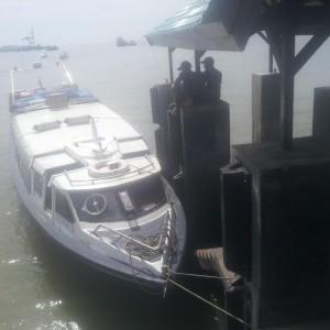 Speedboat Dewa Sebakis Expres Yang Dianggap Ilegal Karena Tidak Memiliki Izin Trayek
