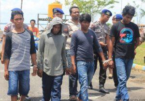 4 Pelaku pencuri ikan dengan kapal Malaysia yakni JN, RS, AG dan MS (hfa)