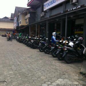 Salah satu area parkir di Tarakan (hfa)