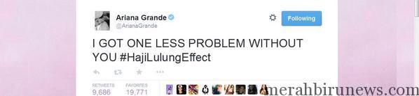 Ariana Grande #HajiLulungEffect
