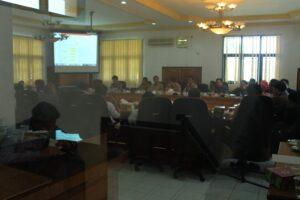 Suasana rapat PTLB pagi tadi yang dilakukan secara tertutup antara pemkot dan DPRD Tarakan