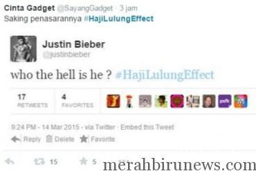 Justin Bieber #HajiLulungEffect