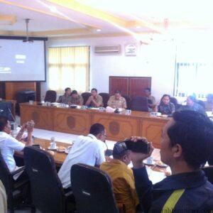 Suasana Rapat pembahasan PTLB bersama pemerintah dan DPRD Tarakan (hfa)