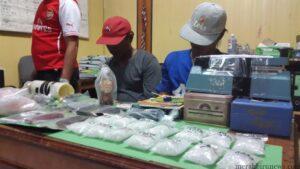 Tersangka berikut dengan barang bukti shabu-shabu seberat 600 gram lebih yang ditangkap beberapa waktu lalu (ctr)
