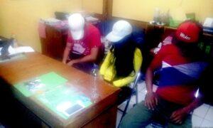 Para tersangka dan barang bukti yang diamankan petugas satuan reskoba Polres Tarakan (ctr)