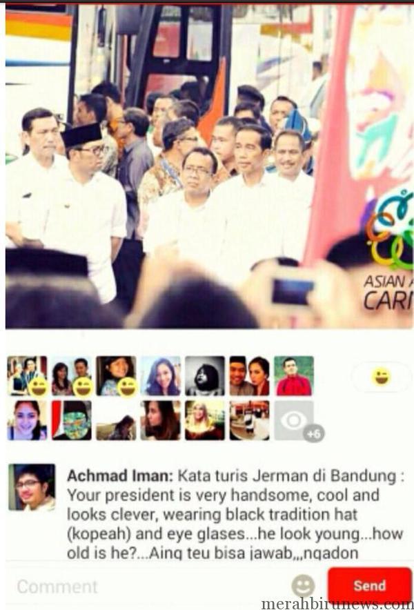 Capture Path Turis Jerman Sangka Presiden RI Ridwan Kamil Bukan Jokowi