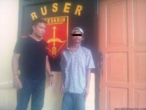 Tersangka SL yang diamankan petugas kepolisian (ctr)