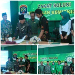 Penandatangan Mou Baznas dan HMI Cabang Tarakan, Pendataan Mustahiq 2015