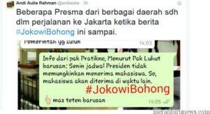 Ketua BM UI Seru Jokowi Bohong (sindonews.com)
