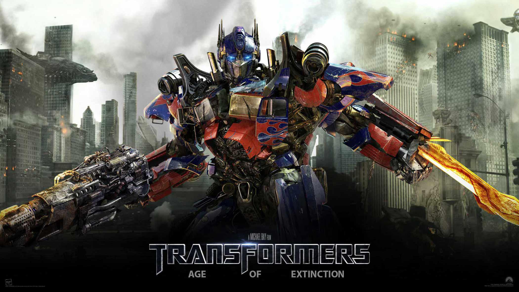 Wallpaper Transformers 4 Age of Extinction Optimus Prime Poster